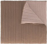 Issey Miyake Pre Owned two-tone pleated scarf