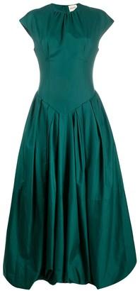KHAITE Long Pleated Dress