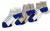 Lands' End Women's Seamless Toe Pattern Ankle Socks (3-pack)-Black