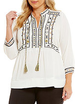 Gibson & Latimer Plus Embroidered Blouse