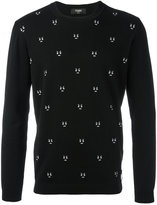Fendi embroidered sweater - men - Cotton/Polyester/Cashmere - 46