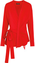 Isabel Marant Dorcey Stretch Silk And Wool-blend Wrap Top - Red
