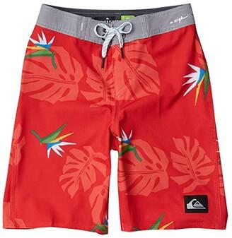 Quiksilver Highline Paradise (Big Kids) (Hibiscus) Boy's Swimwear