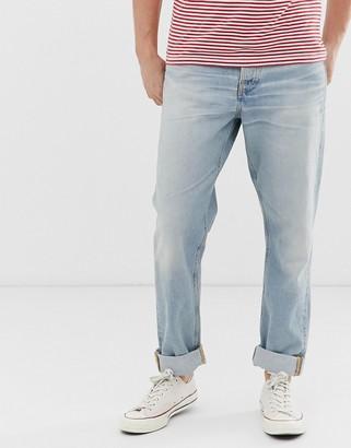 Nudie Jeans Steady Eddie II regular tapered fit jeans in epic wash