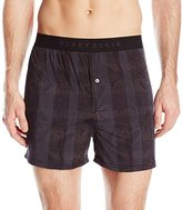 Perry Ellis Men's Techno Paisly Plaid Boxer
