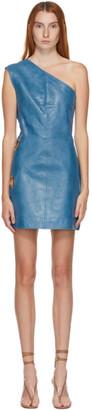 Saks Potts SSENSE Exclusive Blue Eyelet Dress