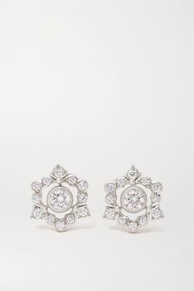 Buccellati Mini Ghirlanda 18-karat White Gold Diamond Earrings - one size