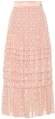 Temperley London Suki silk blend midi skirt