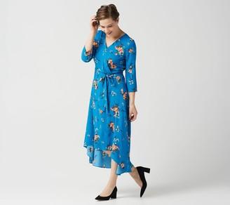 Laurie Felt Hi-Low Hem Wrap Dress