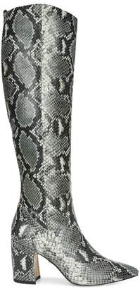 Sam Edelman Hai Knee-High Snakeskin-Embossed Leather Boots