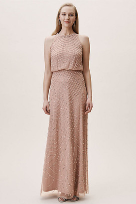 Adrianna Papell Madigan Dress By in Pink Size 20