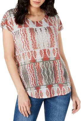 Style&Co. Style & Co. Petite Printed Short-Sleeve Top