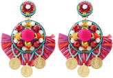 Ranjana Khan Multi Pom Pom Clip-On Earrings