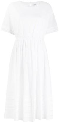 Peserico Stripe Detail Cotton Tunic Dress