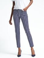 Banana Republic Sloan-Fit Micro-Gingham Pant