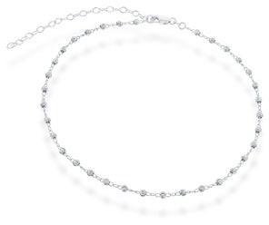 La Preciosa Sterling Silver Diamond-cut Beaded Choker