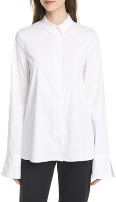 Emporio Armani French Cuff Stretch Cotton Blend Shirt