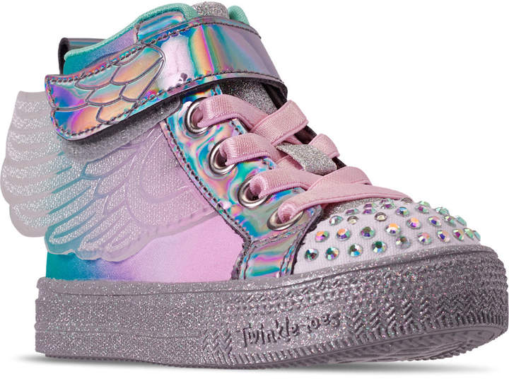 Girls' Toddler Twinkle Toes: Shuffle Lite Lil Sparkle Wings Light Up Casual Shoes