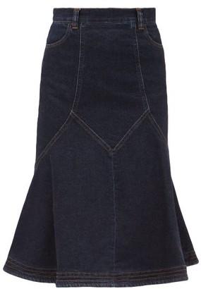 See by Chloe Flared Denim Midi Skirt - Denim
