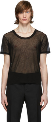 Saint Laurent Black Transparent T-Shirt