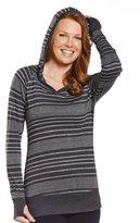 Jockey Women's Stripe Burnout Hoodie