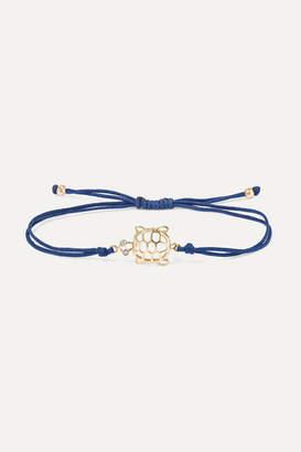 Yvonne Léon 9-karat Gold, Silk And Diamond Bracelet - one size