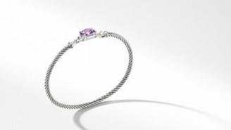 David Yurman Petite Wheaton Bracelet With Amethyst And Diamonds