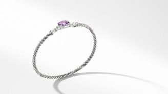 David Yurman Davidyurman Petite Wheaton Bracelet With Amethyst And Diamonds