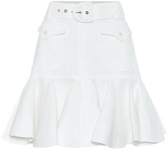 Zimmermann Super Eight high-rise linen skirt