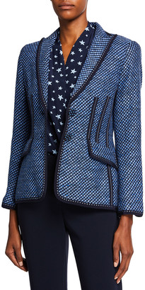 Maison Common Two-Button Basketweave Blazer Jacket