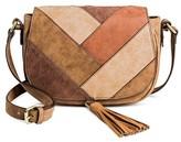 Merona Women's Faux Leather Saddle Handbag Dark Tan