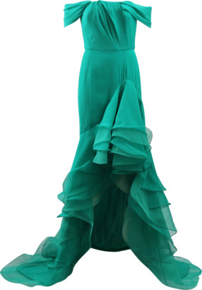 Oscar de la Renta Cascade Ruffle Gown