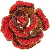 PYNK JEWELLERY Large Siam Red Swarovski Crystal Rose Flower Brooch