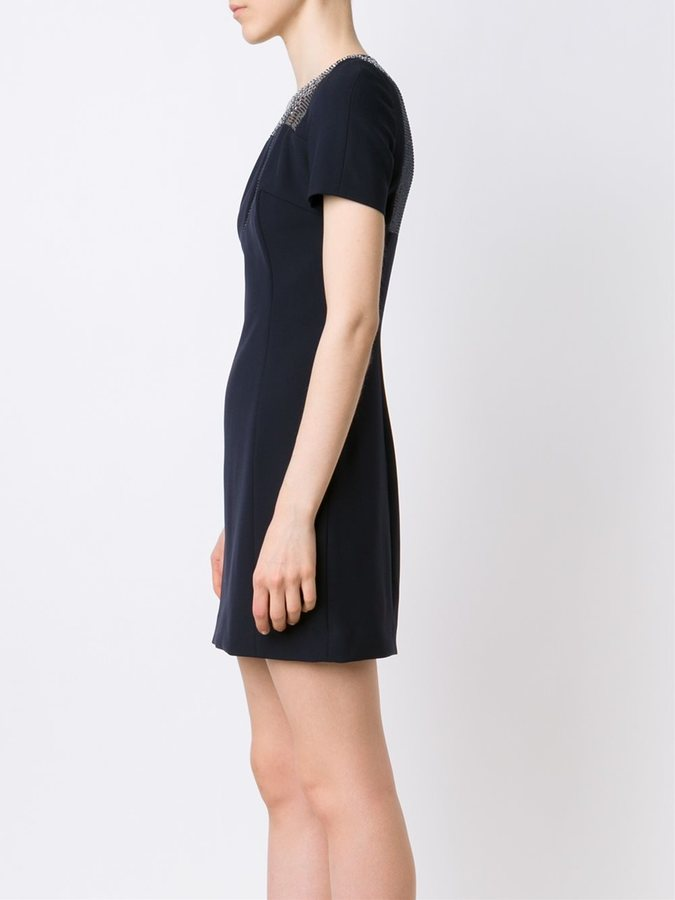 Versace shortsleeved fitted dress