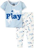 Kickee Pants Print Pajama Set (Baby) - Natural Frisbee Labs-3-6 Months