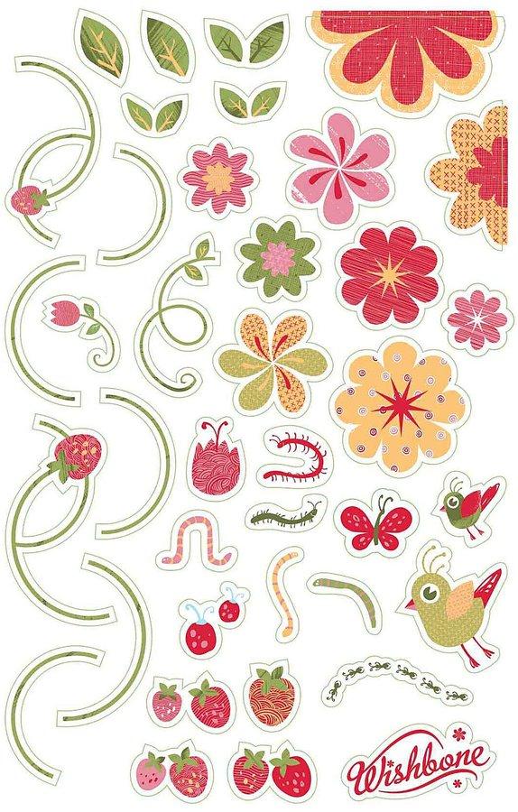 Wishbone Stickers - Flowers