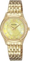 Pulsar Women's Gold-Tone Stainless Steel Bracelet Watch 28mm PM2236