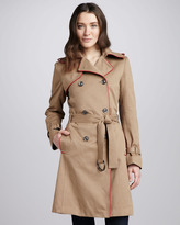 G.E.T. Contrast-Piped Trenchcoat, Camel