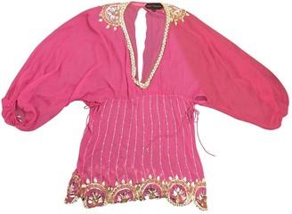 Jenny Packham Pink Silk Tops
