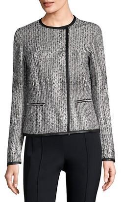 Lafayette 148 New York Caridee Weave Asymmetrical Jacket