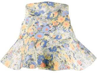 Nina Ricci Floral Print Peplum Blouse