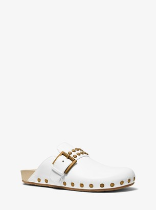 MICHAEL Michael Kors Robin Studded Leather Clog