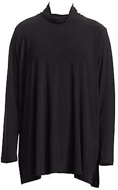Caroline Rose Caroline Rose, Plus Size Women's Stretch Knit Mockneck Tunic Top
