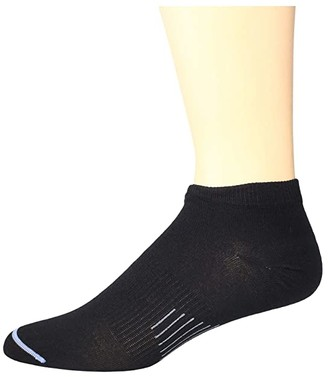 Wrightsock Ultra Thin Low (Black) Crew Cut Socks Shoes
