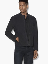 John Varvatos Exclusive Suede Racer Jacket