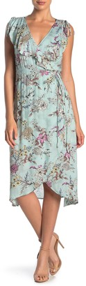 Love Stitch Floral Wrap Dress