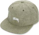 Stussy Logo Cotton-linen Strapback Cap