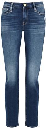 Frame Le Garcon Blue Slim-leg Jeans