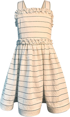 Helena Girl's Wavy Striped Sun Dress, Size 7-12
