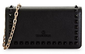 Valentino By Mario Valentino Ibty Palmellato Leather Chain Wallet